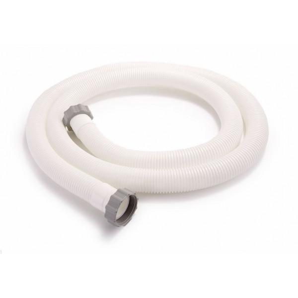 Lot de 2 tuyaux Intex avec bague pour épurateurs à cartouche et filtre à sable Ø 38 mm / Longueur 3 m