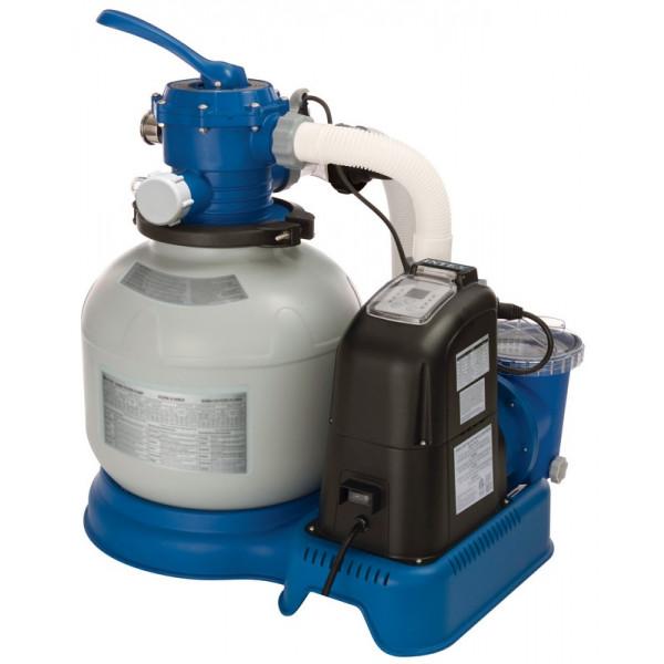 Combiné filtre à sable 6 m³/h et écostérilisateur Intex