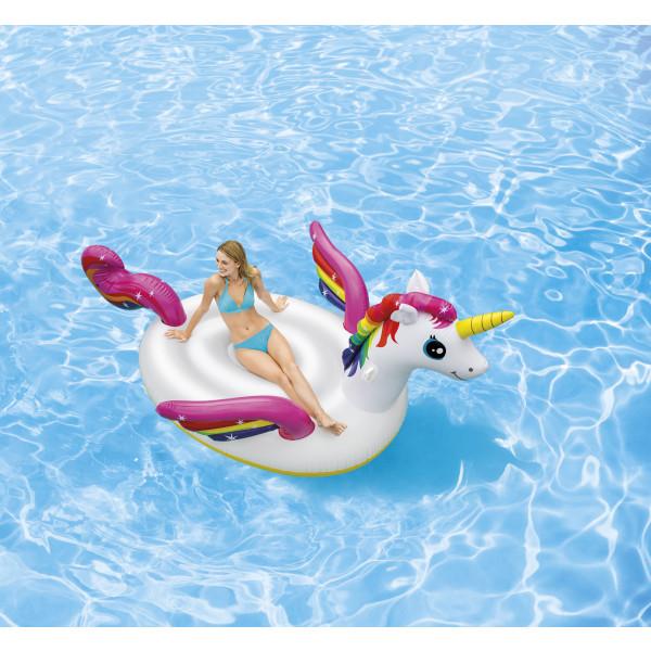 Licorne gonflable géante pour piscine Intex 287 x 193 x 165 cm