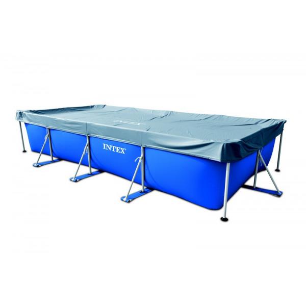 Bâche pour piscine tubulaire rectangulaire Intex 4.50 m