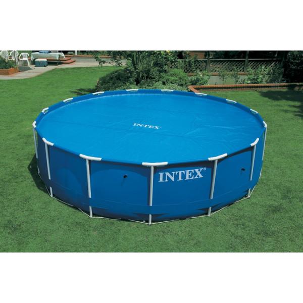 Bâche à bulles de diamètre 5,38m pour piscines Intex rondes de 5.49 m