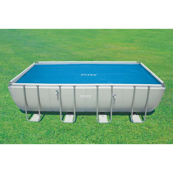Bâche à bulles pour piscine tubulaire rectangle 5,49 x 2,74 m INTEX