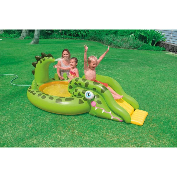 Aire de jeux gonflable piscine INTEX Croco