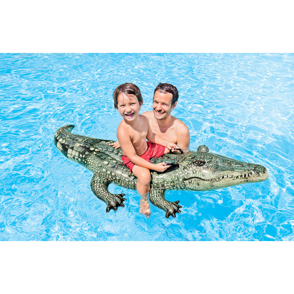 Alligator / crocodile gonflable à chevaucher Intex