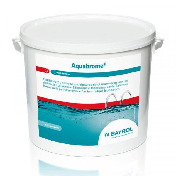 Brome lent pour piscine BAYROL Aquabrome 10 kg, pastille 20 gr