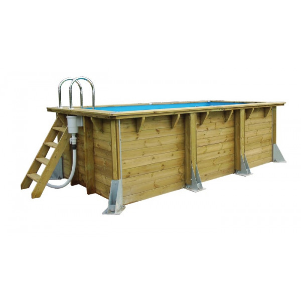 Piscine en bois rectangulaire Ubbink Azura 250 x 450