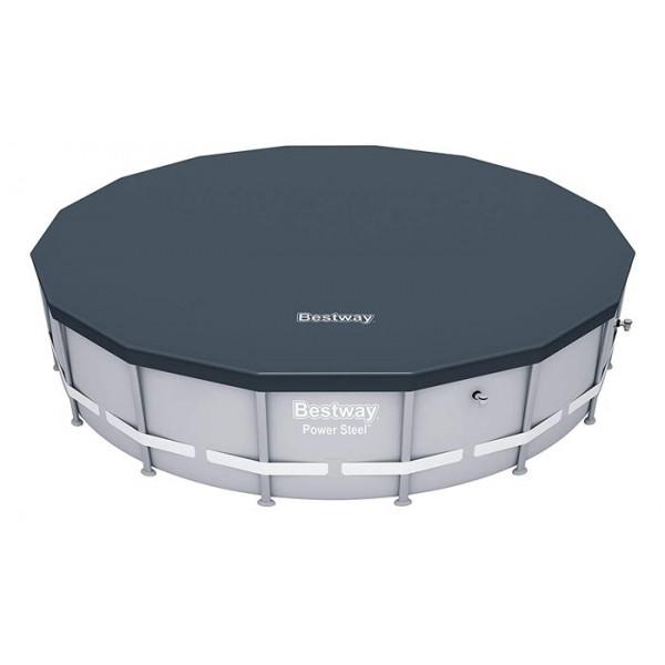 Bâche de protection pour Piscine Bestway Hydrium/ Power /Frame Pool ronde ⌀460/488