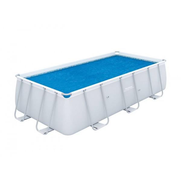 Bâche à bulles rectangulaire pour piscine Bestway