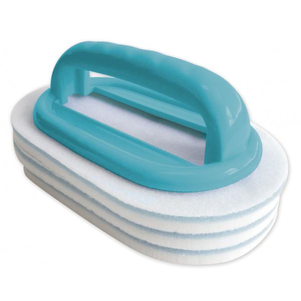 Brosse ligne d'eau + 2 tampons Bayrol
