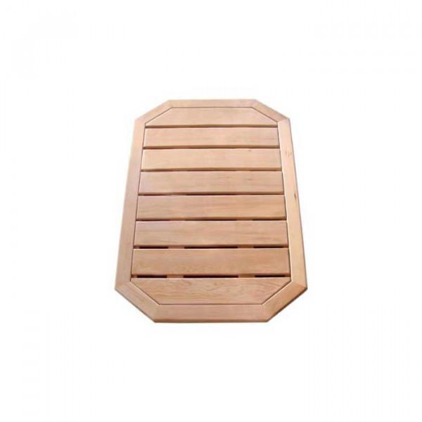 Caillebotis en bois pour douche solaire Formidra