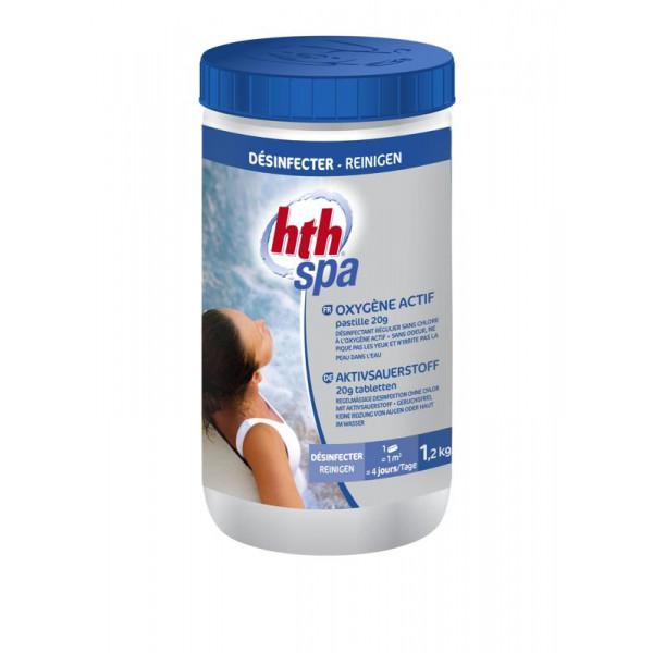 HTH Spa 1,2 kg - Oxygène actif pastilles 20g