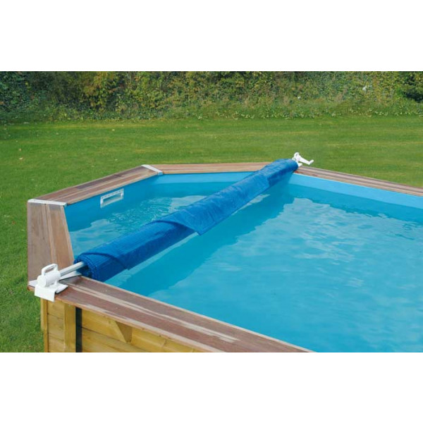 Enrouleur de bâche à bulles pour piscine en bois Ubbink Éco