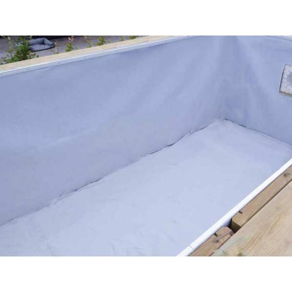 Feutre de protection pour paroi de piscine Ubbink blanc L 1,35 x l 11,80 m