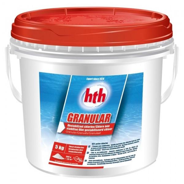 hth Granular 5 kg - Chlore non stabilisé en granulés