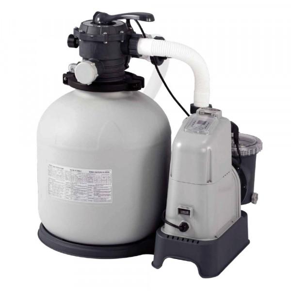 Combiné filtre à sable 8 m³/h et écostérilisateur Intex + OEC