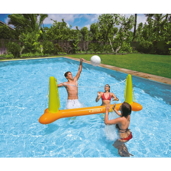 Filet de volley gonflable pour piscine intex jeu de volley flottant intex for Accessoire pour piscine