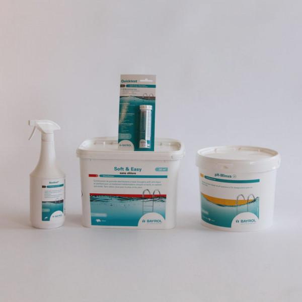 Kit de traitement oxygène actif jusqu'à 20 m³ + Nettoyant ligne d'eau