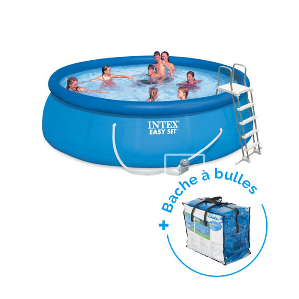 Piscine autoportée Easy Set Intex 4,57 x 1,22 m + Bâche