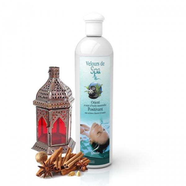 """Parfum de Spa à base d'huiles essentielles """"Orient"""" Camylle 500 ml"""
