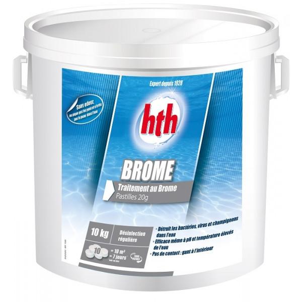 HTH Brome 10kg - Traitement au brome pastille 20g