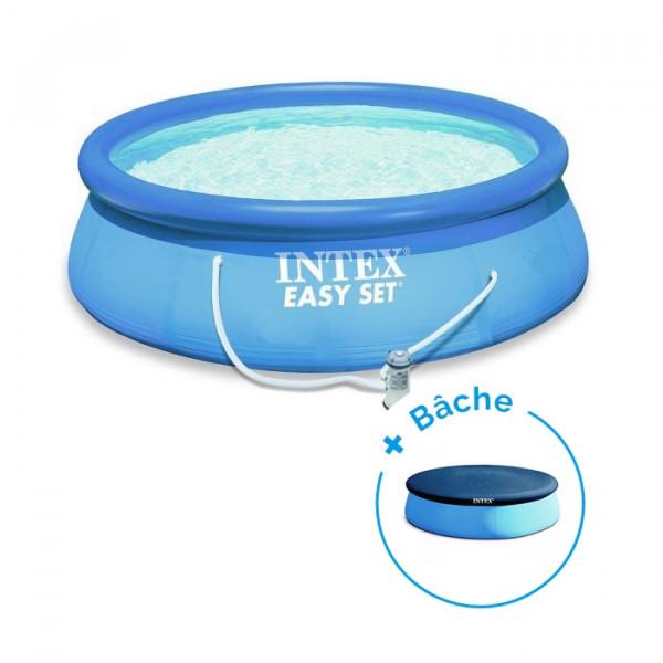 Piscine Easy Set Intex 3.66 x 0.76 m + Epurateur + Bâche