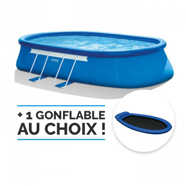 Kit piscine autoportante Oval Frame Intex 6,10 x 3,66 x 1,22 m
