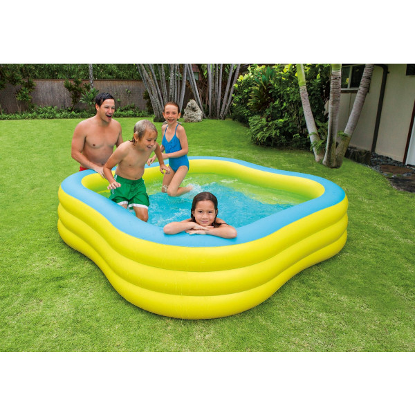 piscine gonflable carr intex wave swim center pool