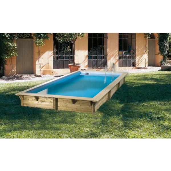 Piscine en bois rectangulaire Ubbink Sunwater 300 x 555