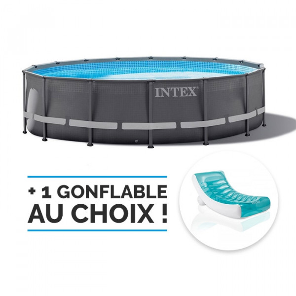 Piscine tubulaire Intex Ultra Frame 4.88 x 1.22 m