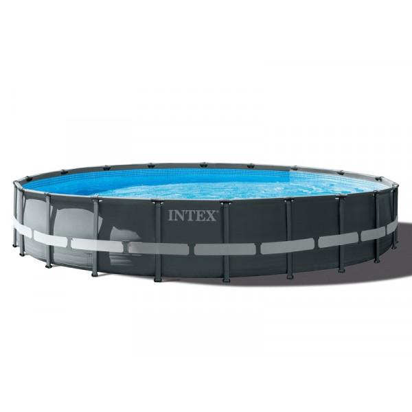 Piscine tubulaire ronde Intex Ultra XTR Frame 6.10 x 1.22 m