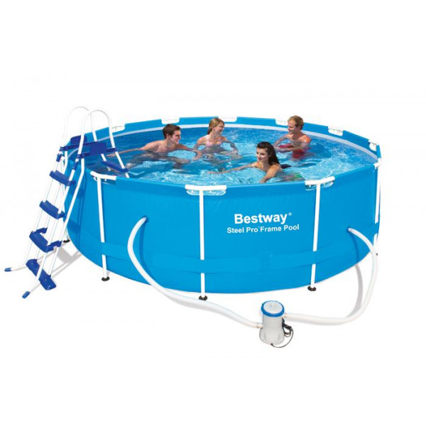 Piscine tubulaire bestway steel pro frame x 1m for Piscine tubulaire bestway