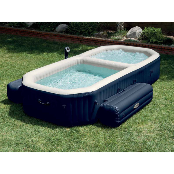 Spa gonflable Intex Pure Spa Plus Bulles + Piscine 4 personnes 28492EX