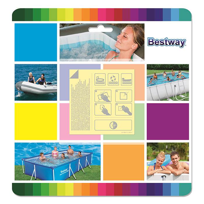 Neuf Kit réparation gonflable piscine Bestway Patchs de rÉparation Blanc 82520