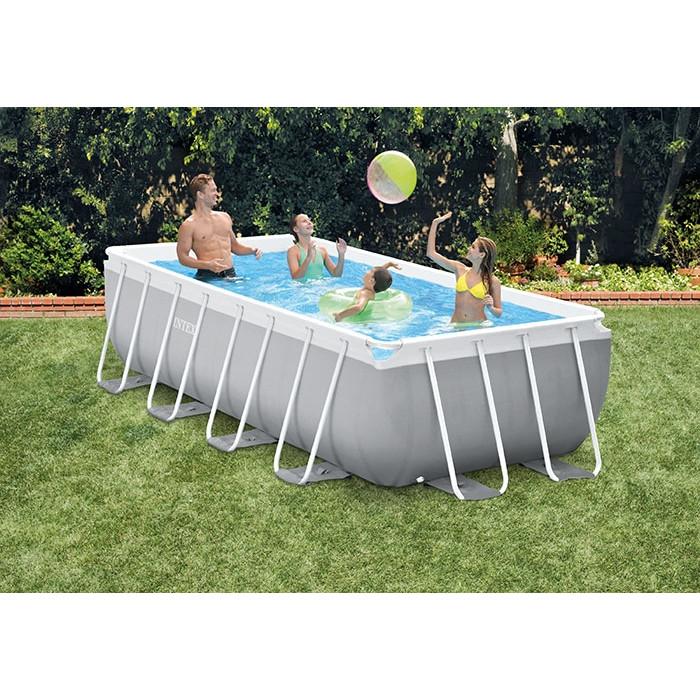 intex prism frame 4 00 x 2 00 x 1 00 m piscine tubulaire rectangulaire grise. Black Bedroom Furniture Sets. Home Design Ideas