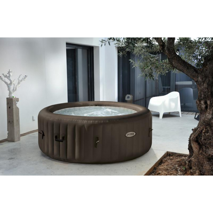 spa gonflable intex pure spa jets 4 places. Black Bedroom Furniture Sets. Home Design Ideas
