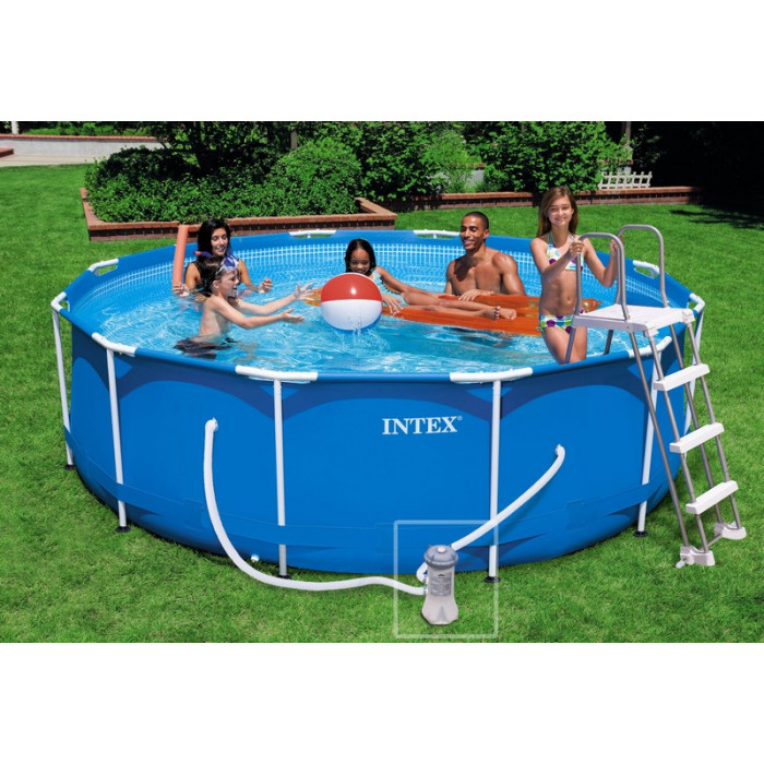 Kit piscine tubulaire intex metalframe x m for Piscine gonflable intex ronde