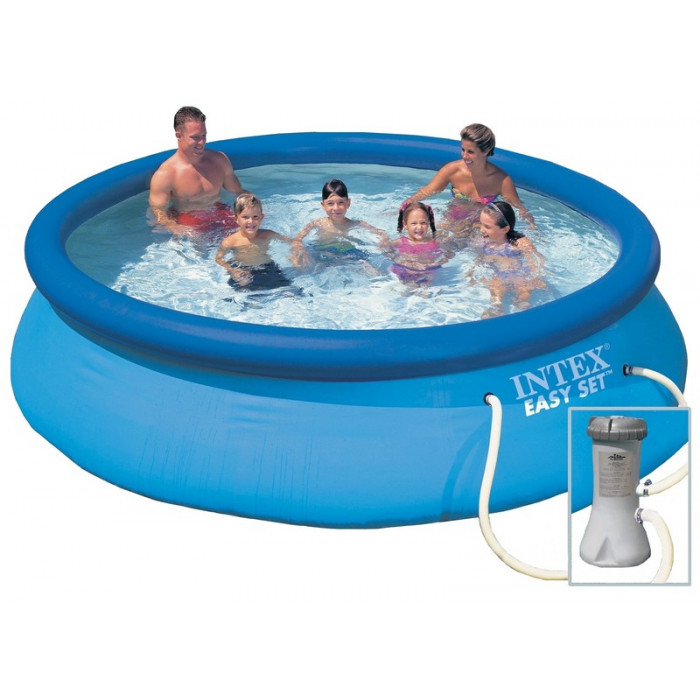 Piscine gonflable intex easy set x m epurateur for Pompe piscine hors sol carrefour