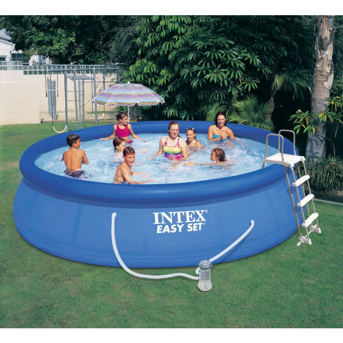 Kit piscine autoport e intex easy set x m for Piscine intex 4 57 x 1 22
