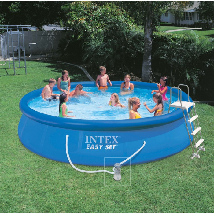 Kit piscine autoportante intex easy set x m for Piscine auto portante