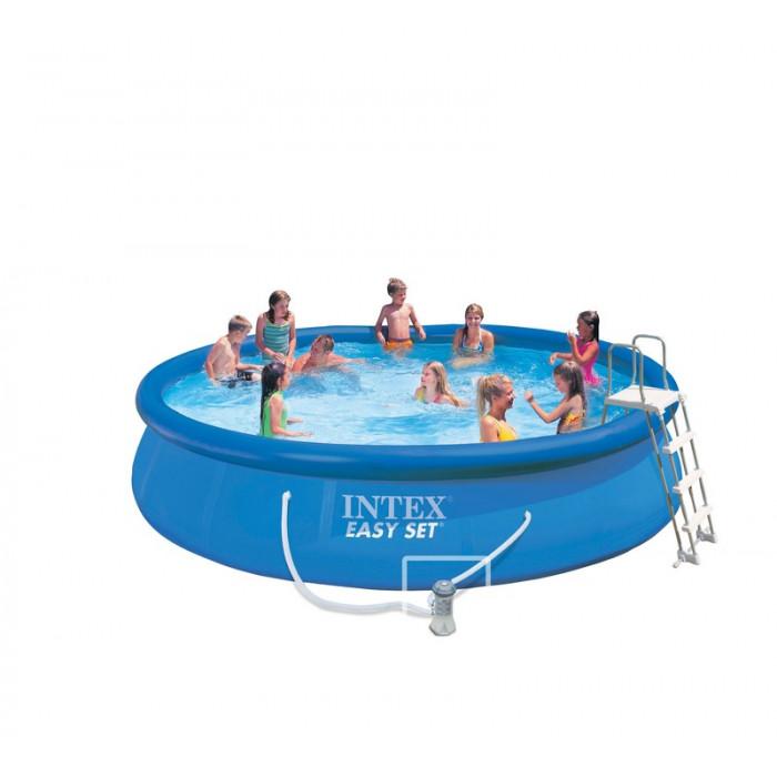 Kit piscine autoportante intex easy set x m for Kit aspirateur intex