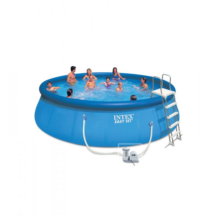 Kit piscine autoport e intex easy set 5 49 x 1 22 m for Piscine intex 5 m