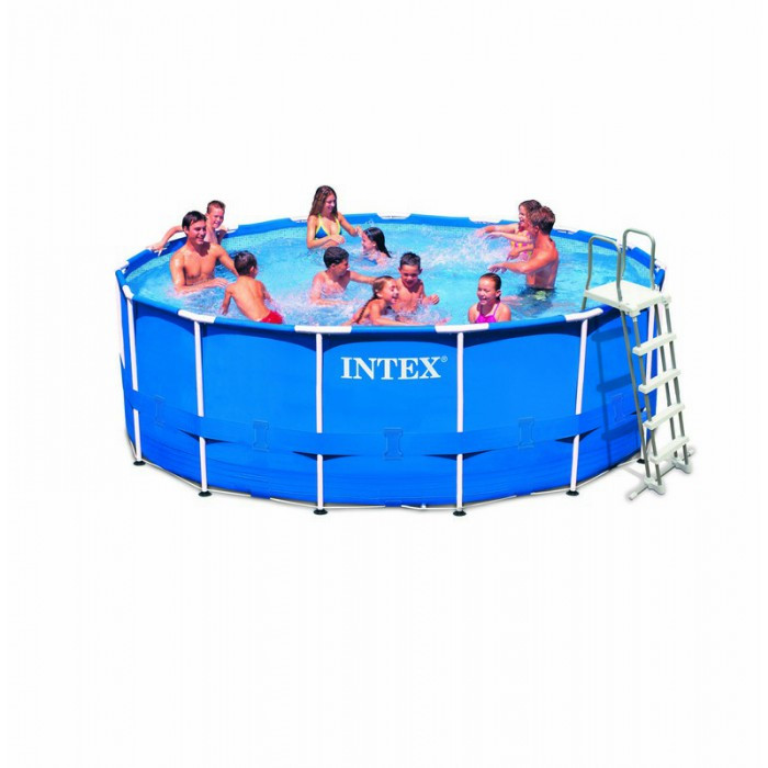 Liner tubulaire pour piscine metal frame 4 57 x 1 22 m intex for Liner pour piscine tubulaire intex