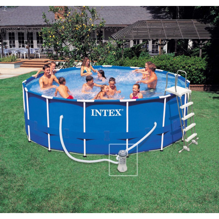 Piscine tubulaire intex metal frame x m for Piscine tubulaire