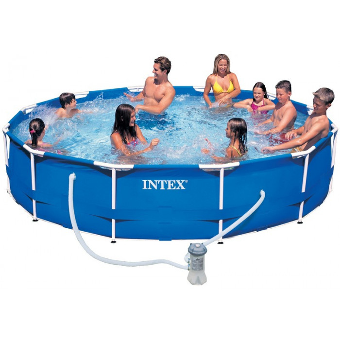 piscine tubulaire intex metal frame x avec purateur. Black Bedroom Furniture Sets. Home Design Ideas
