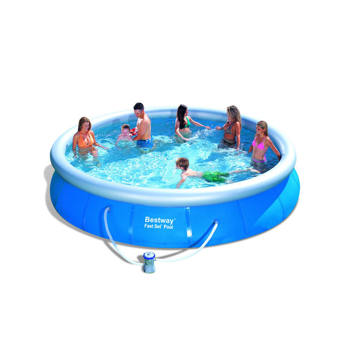 Piscine autostable bestway fast set x m for Piscine bestway