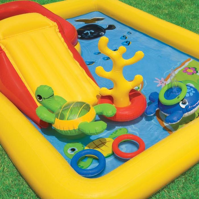 Aire de jeu gonflable intex ocean achat sur raviday piscine for Aire de jeu gonflable piscine