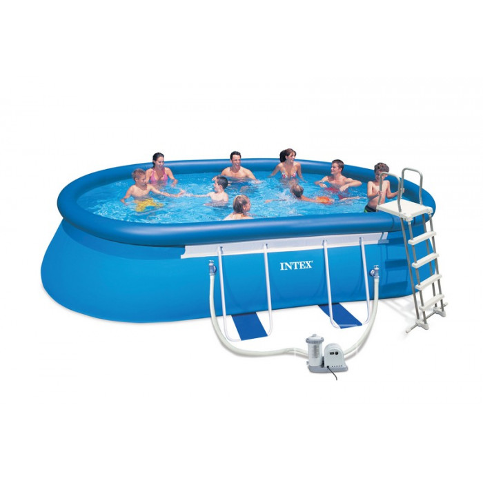 Piscine intex ellipse x x m achat sur for Piscine autoportante