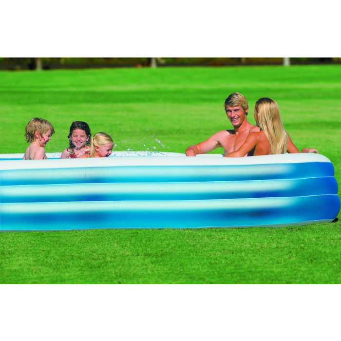 Piscine intex family 49 90 piscine gonflable pour for Piscine gonflable rectangulaire