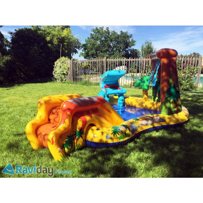 aire de jeux gonflable enfant intex jurassic dinosaure. Black Bedroom Furniture Sets. Home Design Ideas