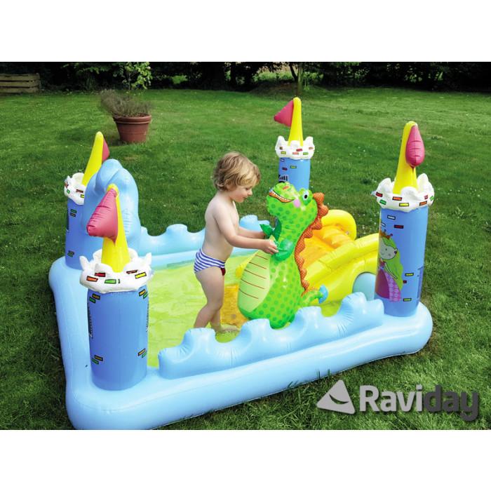 aire de jeu gonflable ch teau m di val intex achat sur raviday piscine. Black Bedroom Furniture Sets. Home Design Ideas